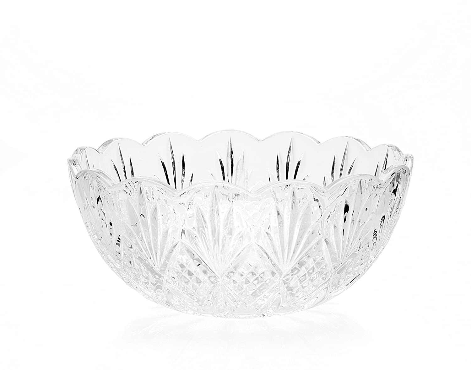 DUBLIN COLLECTION CRYSTAL SERVING BOWL Godinger Silver Art 25750