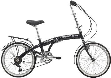 Cicli Cinzia: bicicleta plegable Hopper Aluminium 20, Negro brillante