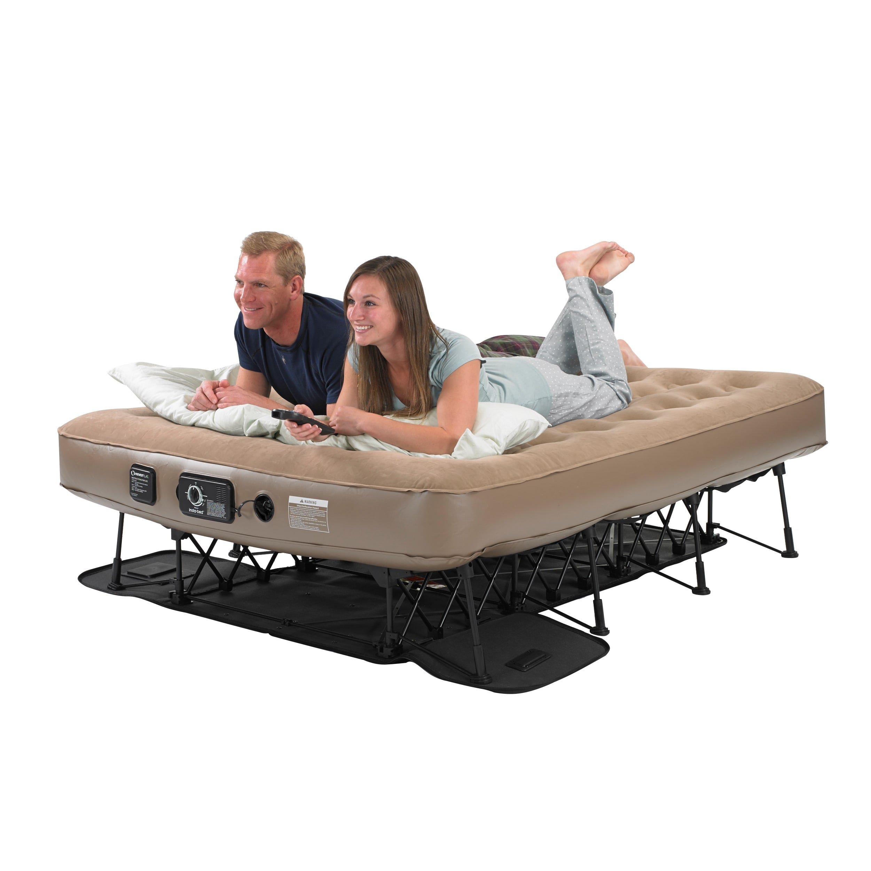 Instabed EZ Bed Never Flat Pump Queen-size Airbed Beige