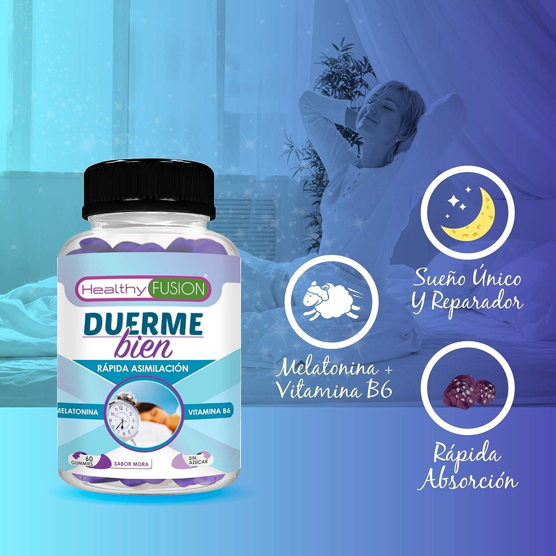 Duerme Bien | Melatonina pura asimilada + vitamina B6 | Para un ...