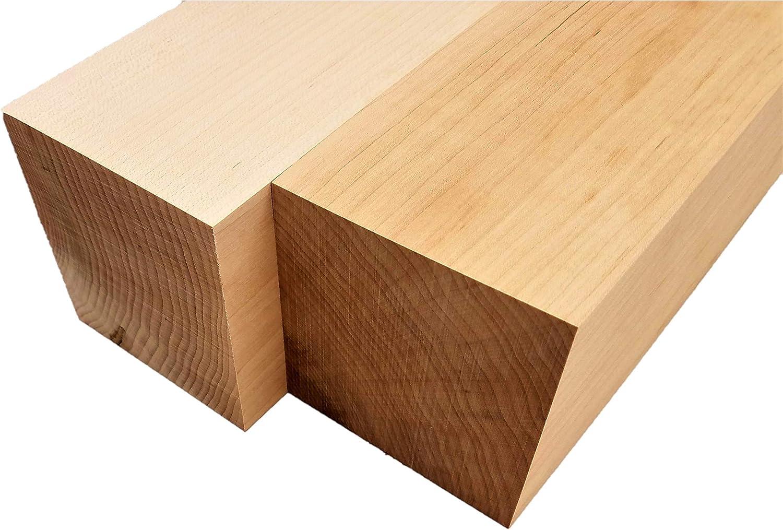 4 x 4 x 6 2 Pcs Maple Lumber Square Turning Blanks 4 x 4