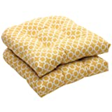 Pillow Perfect Indoor/Outdoor Yellow/White