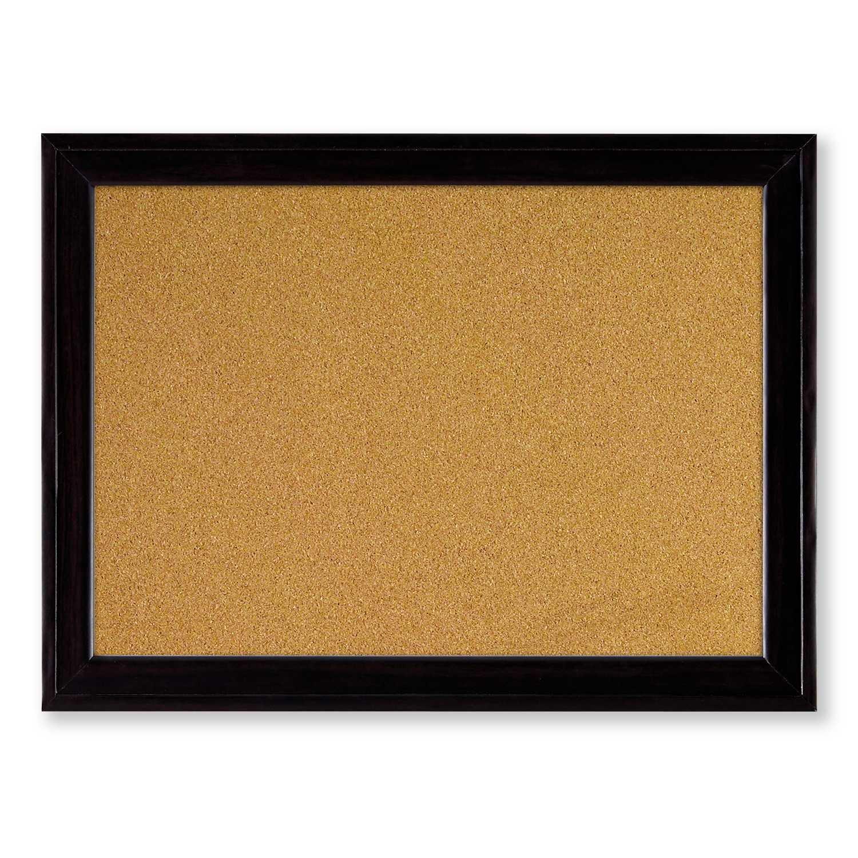 Quartet Cork Bulletin Board, 11 x 17 Inches, Home Décor Corkboard, Black Frame (79279)