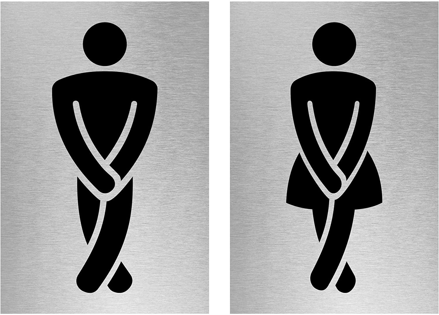 Toilet 150mm x 150mm Sticker Male Female Gents Toilet Sign