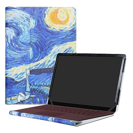 """Alapmk Diseñado Especialmente La Funda Protectora de Cuero de PU Para 13.5"""" Microsoft Surface Laptop"""