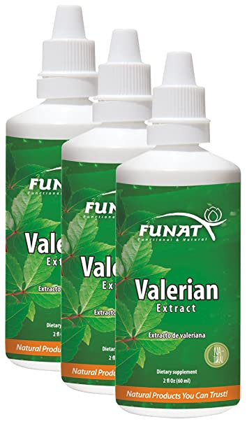 Funat Valerian Root Extract Drops Pure Sleep Aid for Adults 120ml 4Oz | Gotas de Valeriana