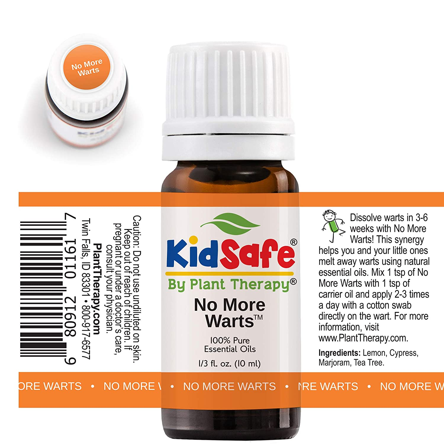 Plant Therapy No More Warts Essential Oil Blend | 100% Pure, KidSafe,  Undiluted, Natural