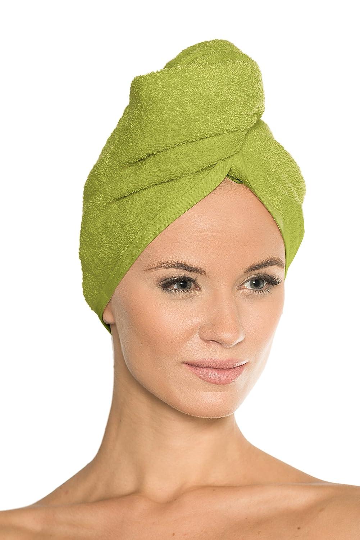 """100/% Pur Coton Sentir /à laise 400 GF//sqm Couleur: Jaune Sophie Bernard Zoe Turban S/èche Cheveux - /à partir de la Collection de Bath /& Spa/"""""""