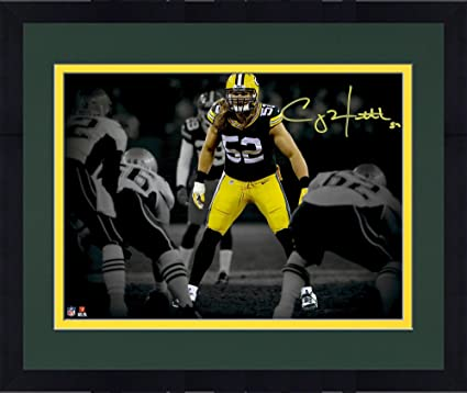 204072c2b Framed Clay Matthews Green Bay Packers Autographed 11 quot  x 14 quot   Stance Spotlight Photograph -
