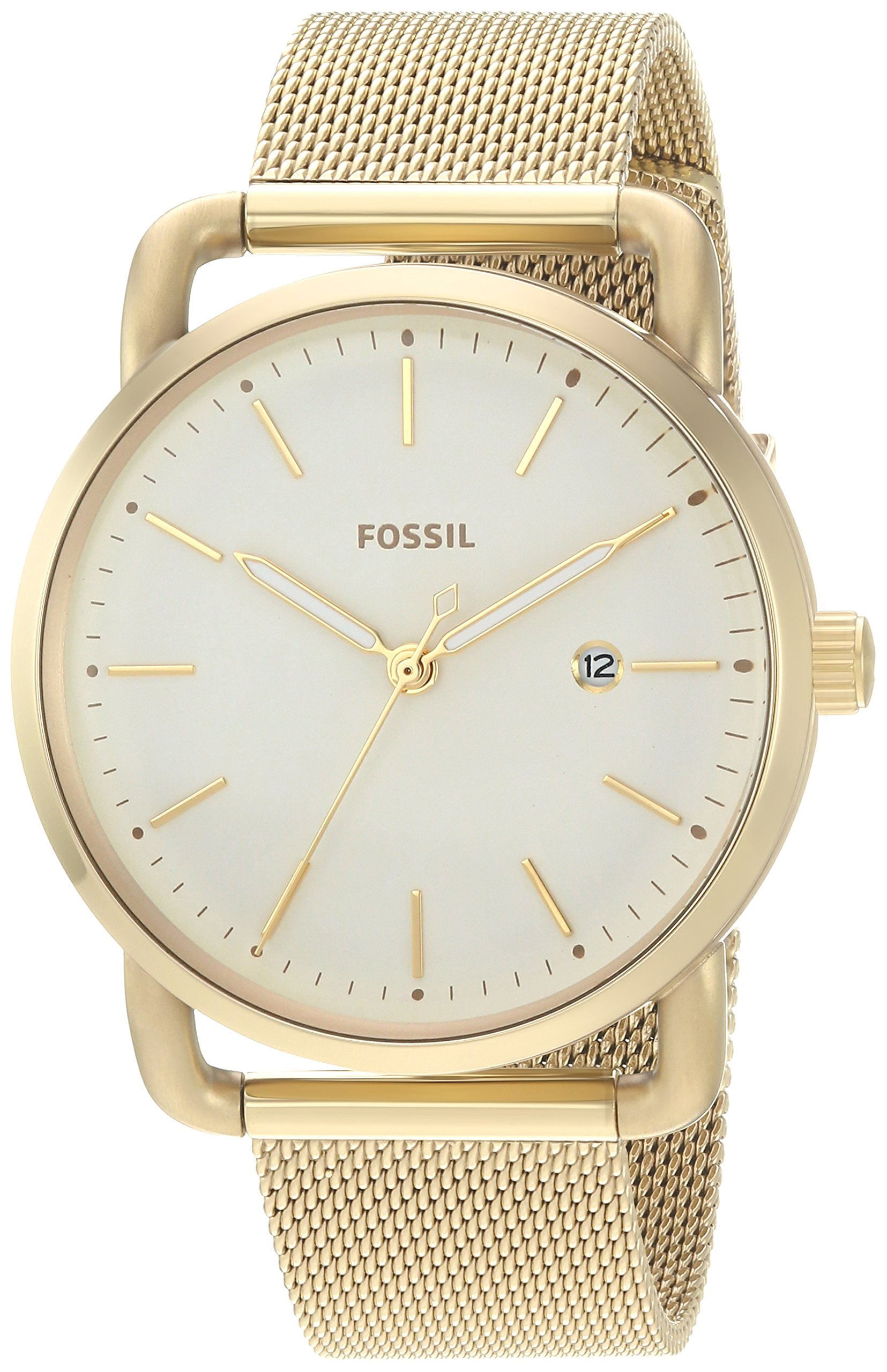 Fossil Women's 'Commuter' Quartz Stainless Steel Casual Watch, Color:Gold-Toned (Model: ES4332)