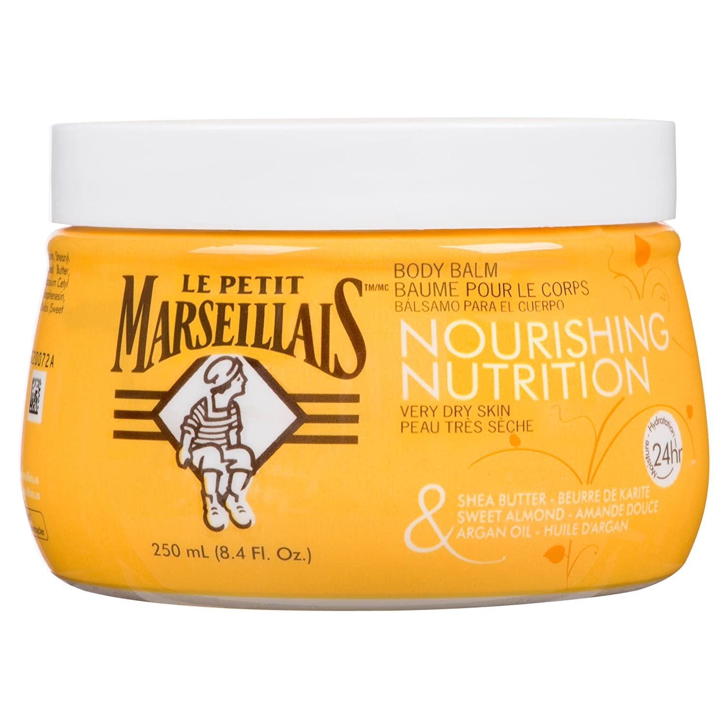 LE PETIT MARSEILLAIS Moisturizing Body Balm, Orange, Sweet Almond and Argan Oil, 250 ml Johnson & Johnson