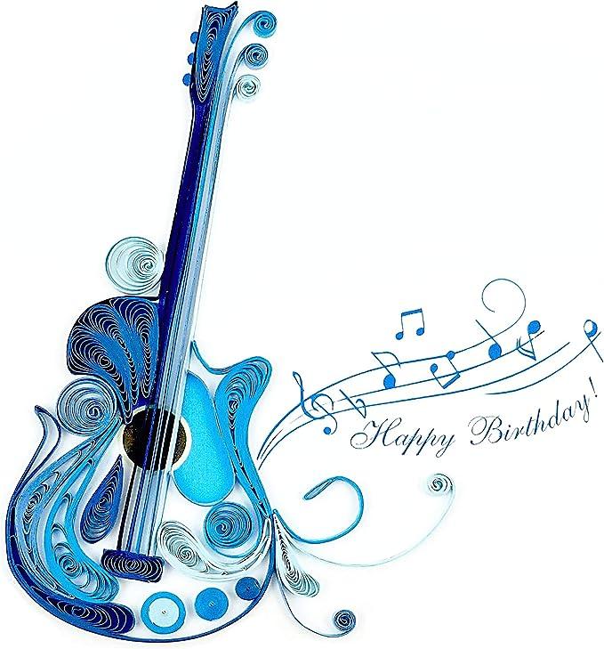 Azul guitarra con
