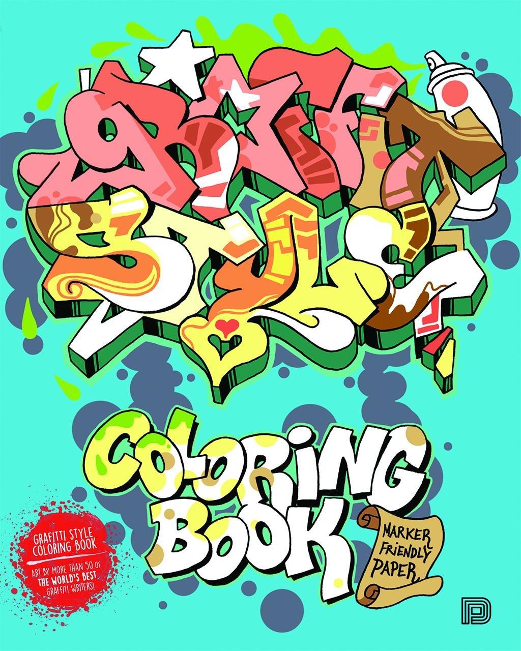 Amazon Com Graffiti Style Coloring Book 9789188369055