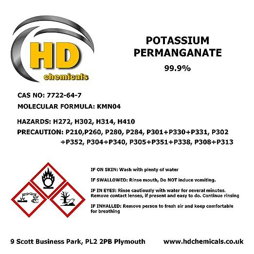 Potassium Permanganate Crystals 999 Pure High Grade 250g Kmno4