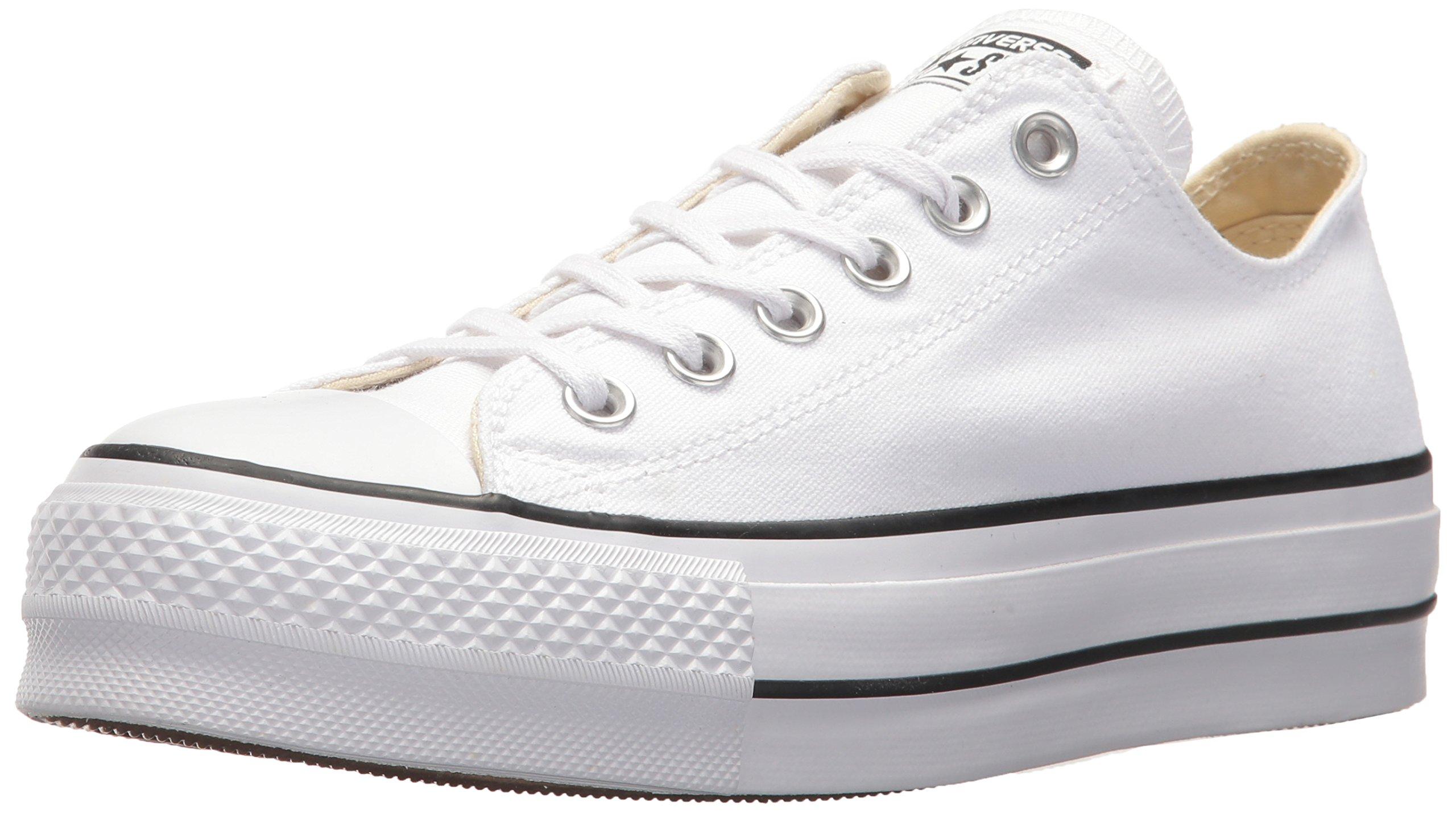 Converse Women's Lift Canvas Low Top Sneaker, Black/White, 6 M US by Converse