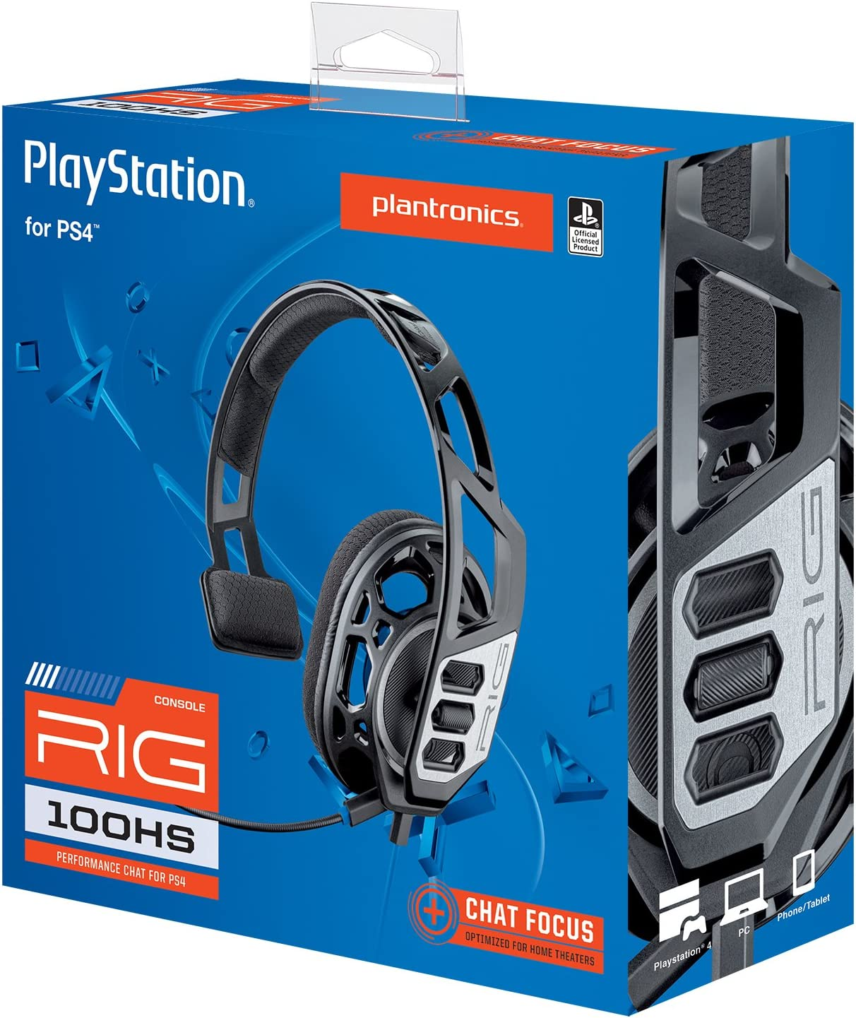 Amazon.com: Plantronics Gaming Headset, RIG 100HS Gaming Headset for PlayStation 4 with Open Ear Full Range Chat: Video Games