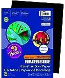 "Riverside 103607 Construction Paper, 76 lb, 0.5"" Height, 9"" Width, 12"" Length, Black (Pack of 50)"