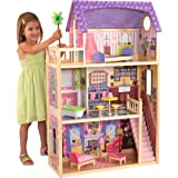 KidKraft 65092 Kayla Wooden Dolls House with Furniture and Accessories Included, 3 Storey Play Set for 30 cm /12 Inch…