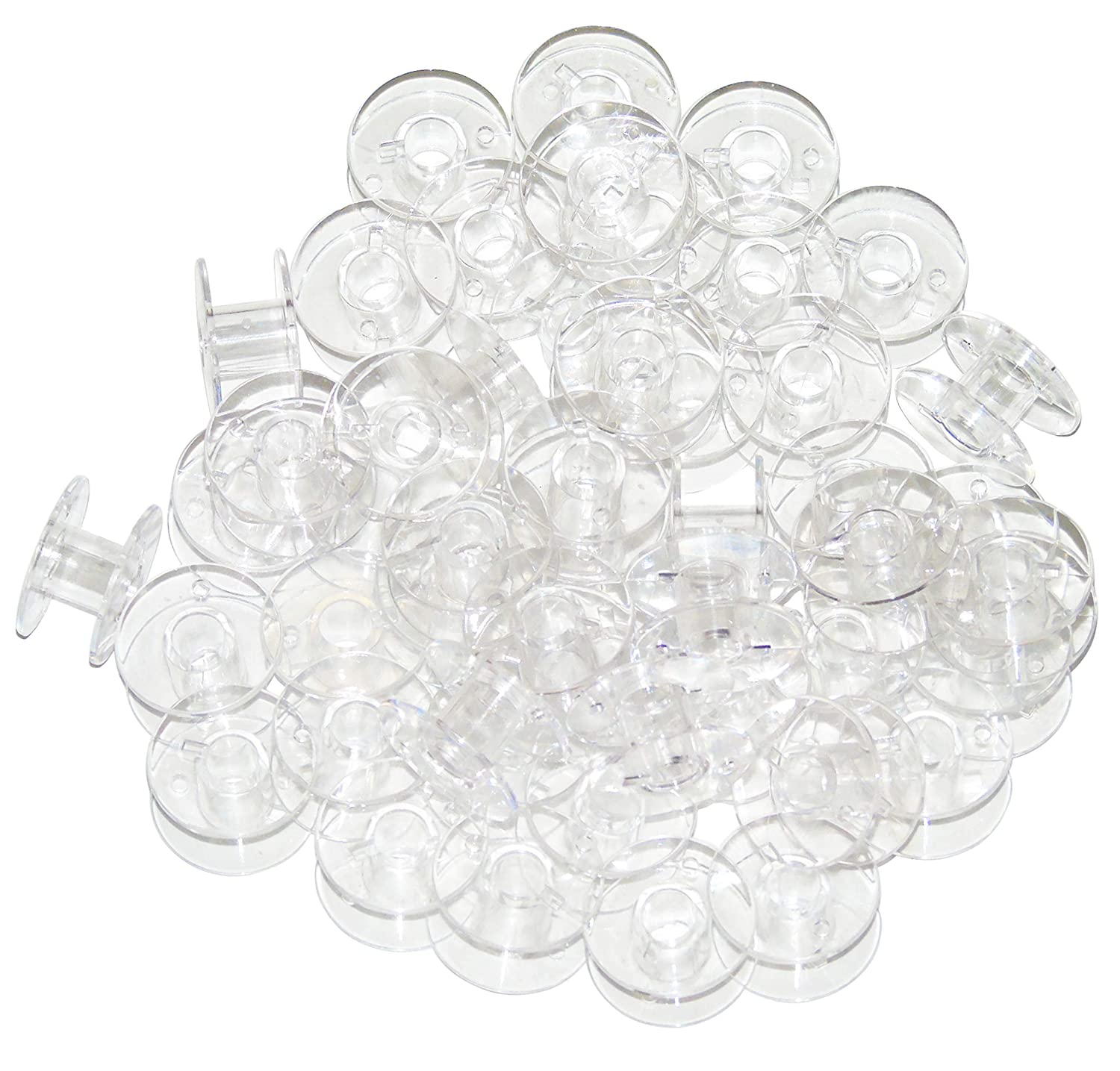 Ceeyali 100 Pcs Transparent Sewing Bobbins for Brother Singer Babylock Kenmore Janome (100 Pcs Transparent Bobbins) 4337000168