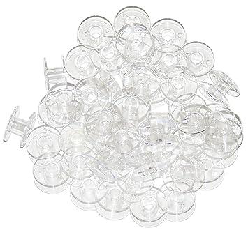 Amazon.com: Ceeyali - 100 bobinas de costura transparentes ...