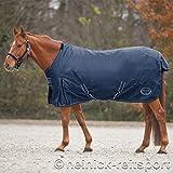 Heinick Couverture imperméable pour cheval Doublure polaire Bleu Marine 115à 165cm