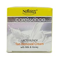 Nature's Essence Caressence Lacto Bleach Tan Removal Cream with Milk & Honey 50g (Pack of 2)