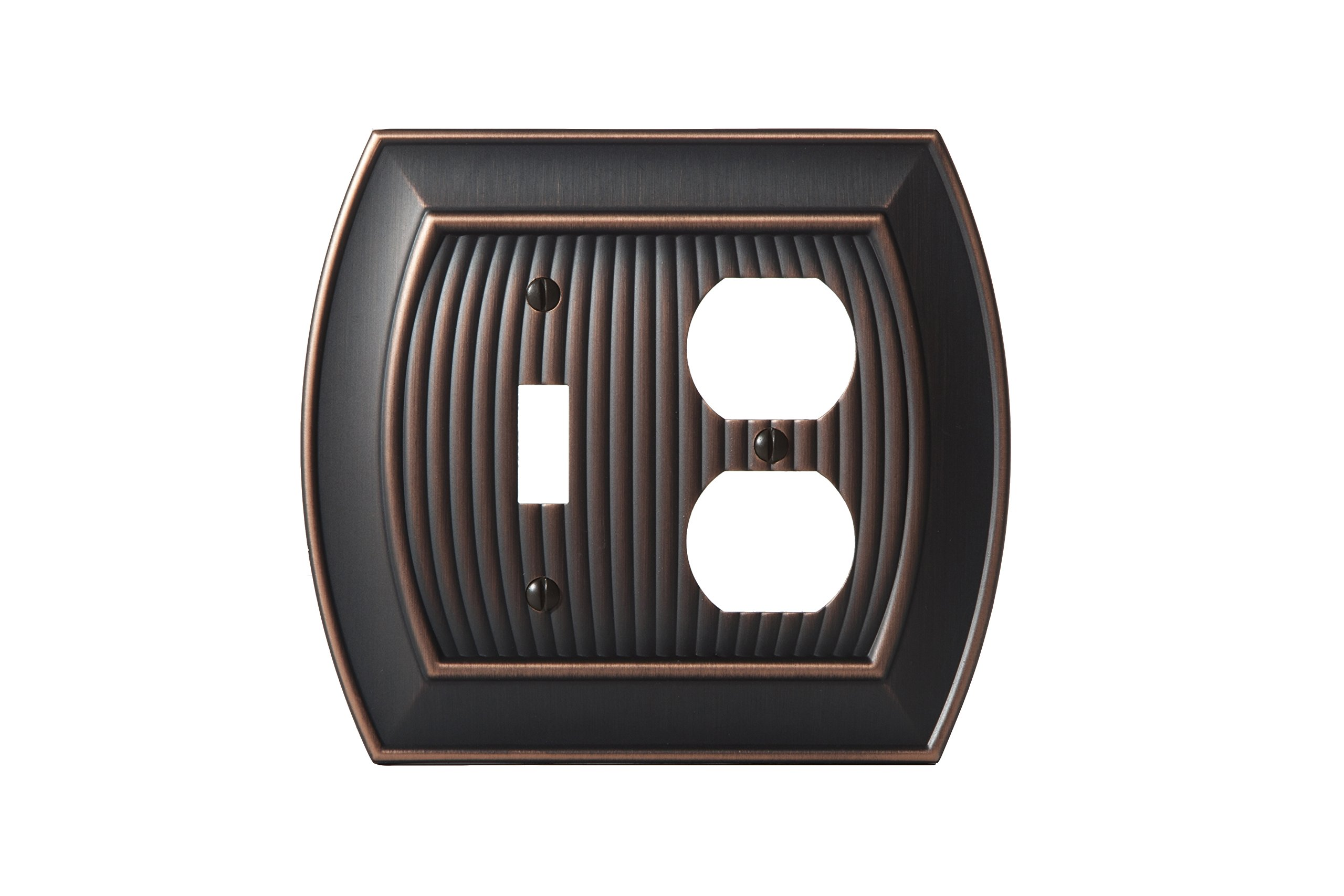 Amerock BP36538ORB Allison 1 Toggle, 1 Receptacle Wall Plate - Oil-Rubbed Bronze by Amerock