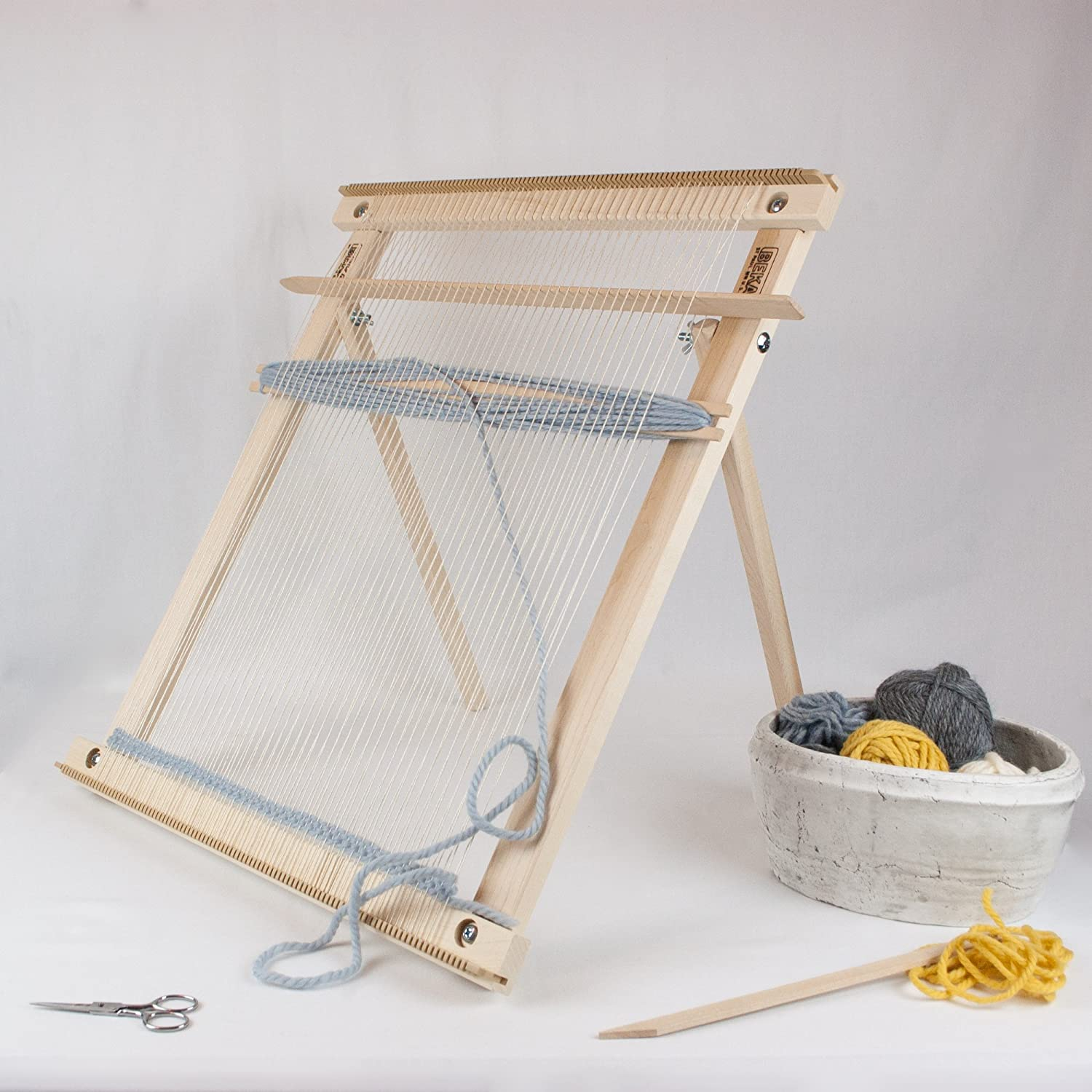 Beka 20″ Weaving Frame Loom with Stand – The Deluxe!