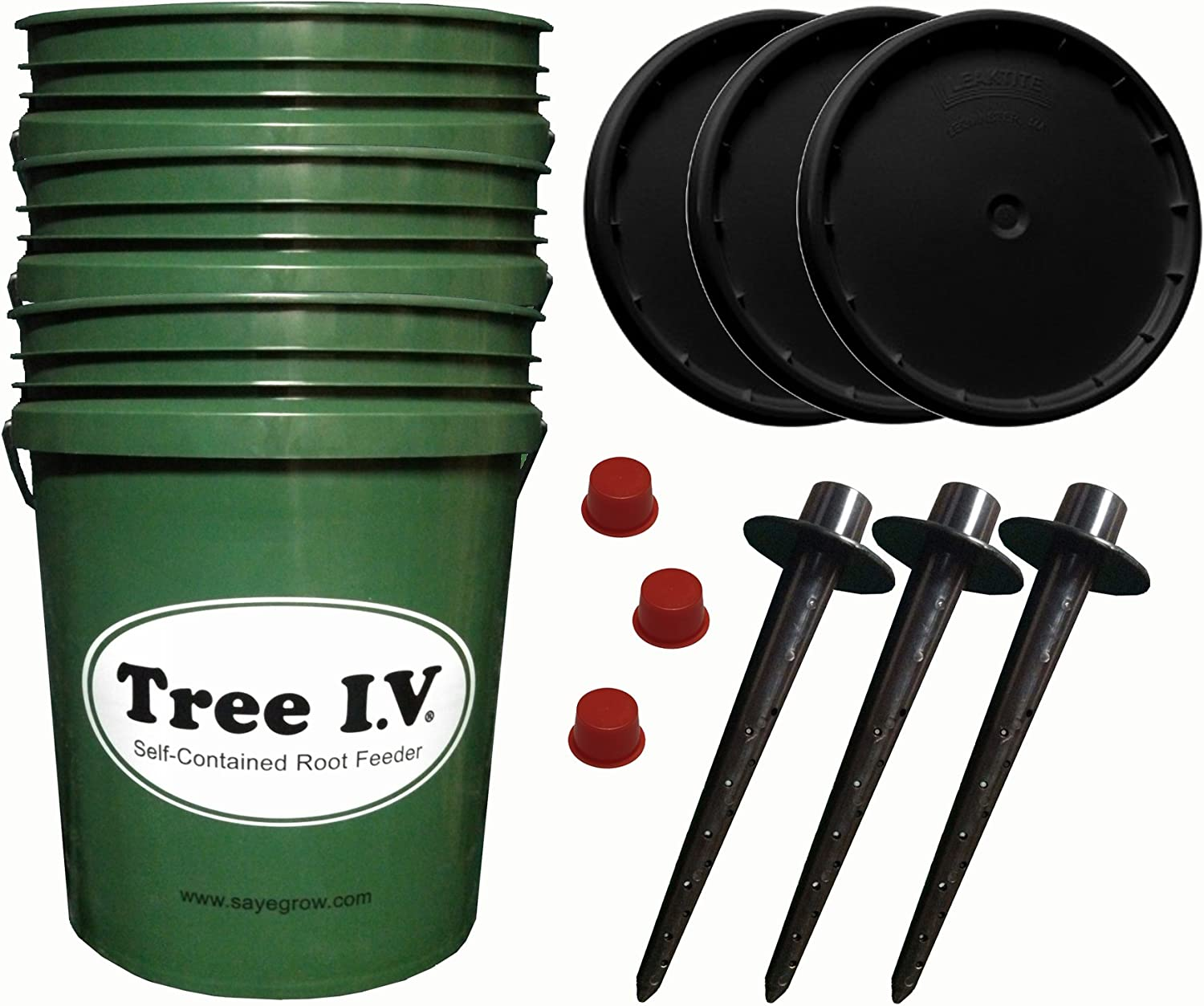 Tree I.V. Fill & Haul Root Seeker Watering System for Remote Trees 3-pk