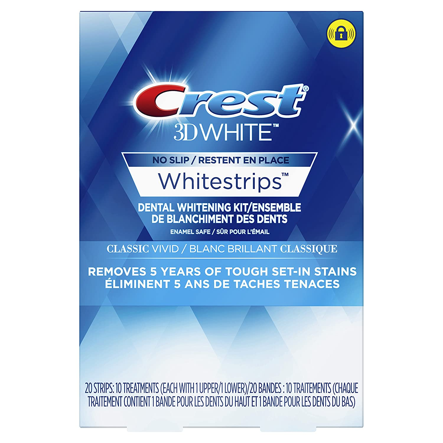 Crest 3D White Whitestrips Classic Vivid Treatments, 10 Count Procter and Gamble