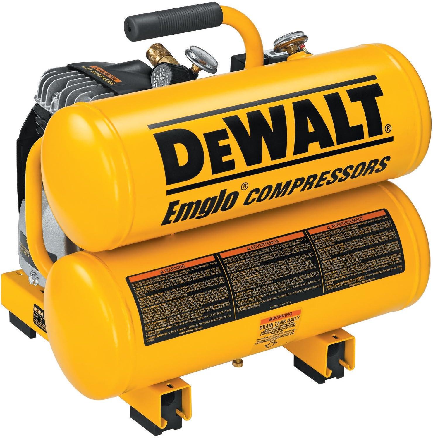 DEWALT D55151 14 Amp 1.1-HP Oiled Twin Hot Dog Compressor