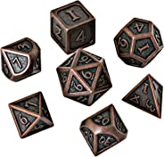 Blacksmith Craft Dice DND Dice Set - Metal Polyhedral Dungeons and Dragons Dice Sets with Dice Bag for RPG Gaming Including