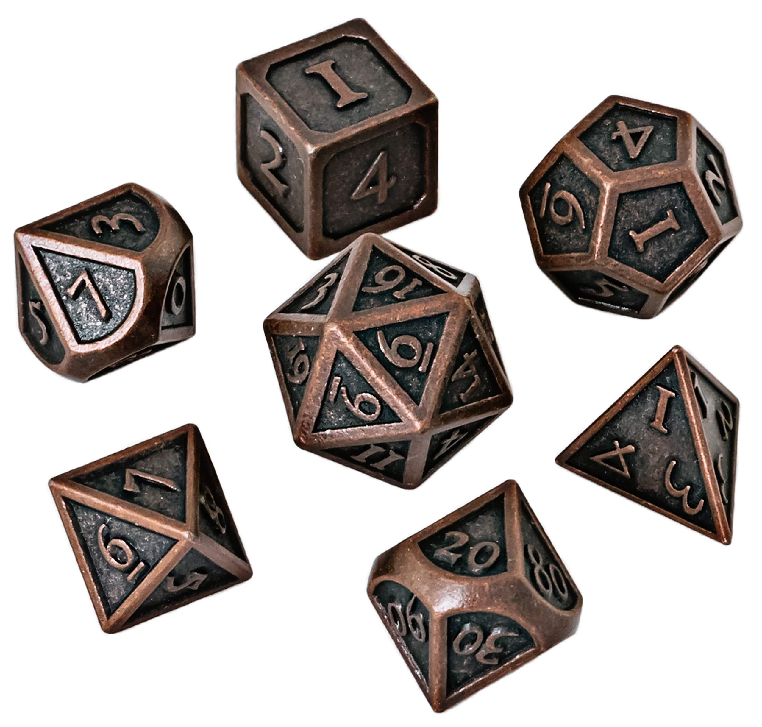 DND Dice Set - Metal Polyhedral Dungeons and Dragons Dice Sets with Dice Bag for RPG Gaming Including D20 - Blacksmith Craft Dice by Blacksmith Craft Dice