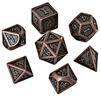 Amazon.com: Blacksmith Craft Dice DND Dados Set – Metal ...