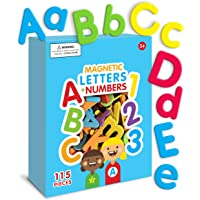 Curious Columbus Magnetic Letters and Numbers. Set of 115 Premium Quality ABC, 123 Colorful Foam Alphabet Magnets Best…
