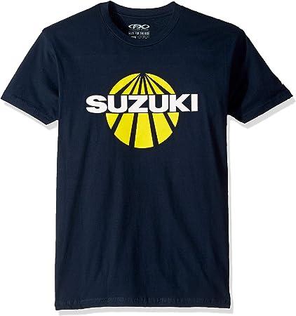 Navy, Medium Factory Effex Unisex-Adult Suzuki Sun T-Shirt