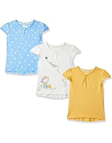 0cb00974b92ea7 Mothercare Girl's Daisy and Spot T-Shirts – 3 Pack T - Shirt