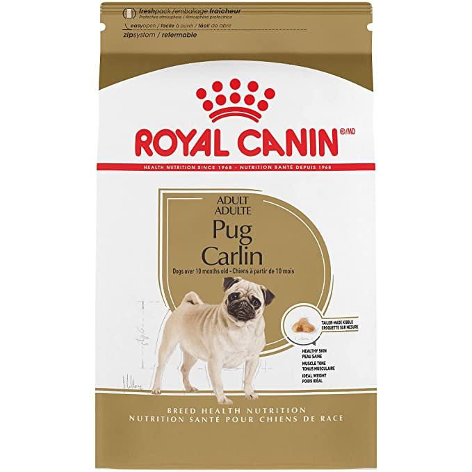 Royal Canin Breed Health Nutrition Pug Adult Dry Dog Food - The Best Premium Dog Food for Adult Pugs