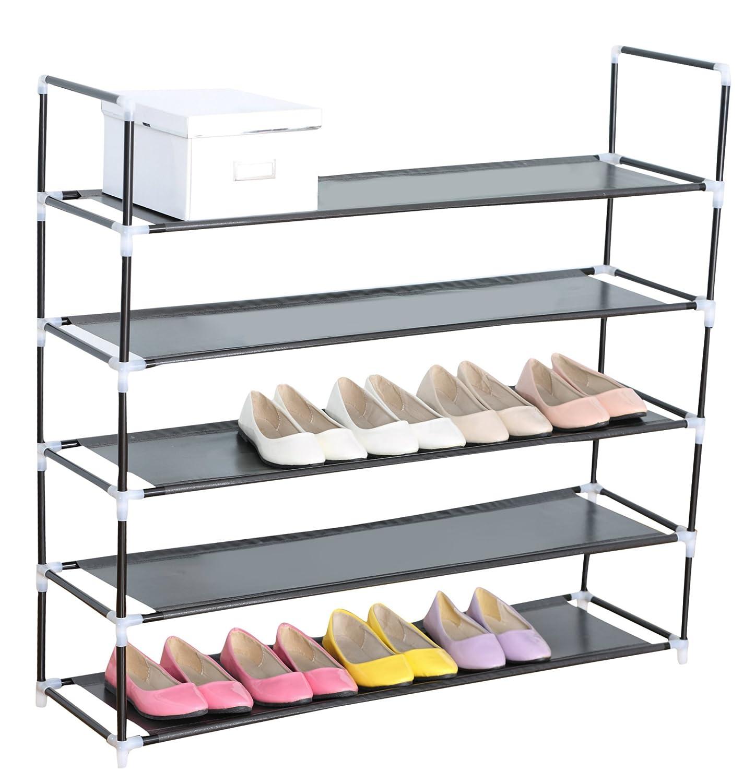 Amazoncom Sodynee 25 Pairs Shoe Rack Shoe