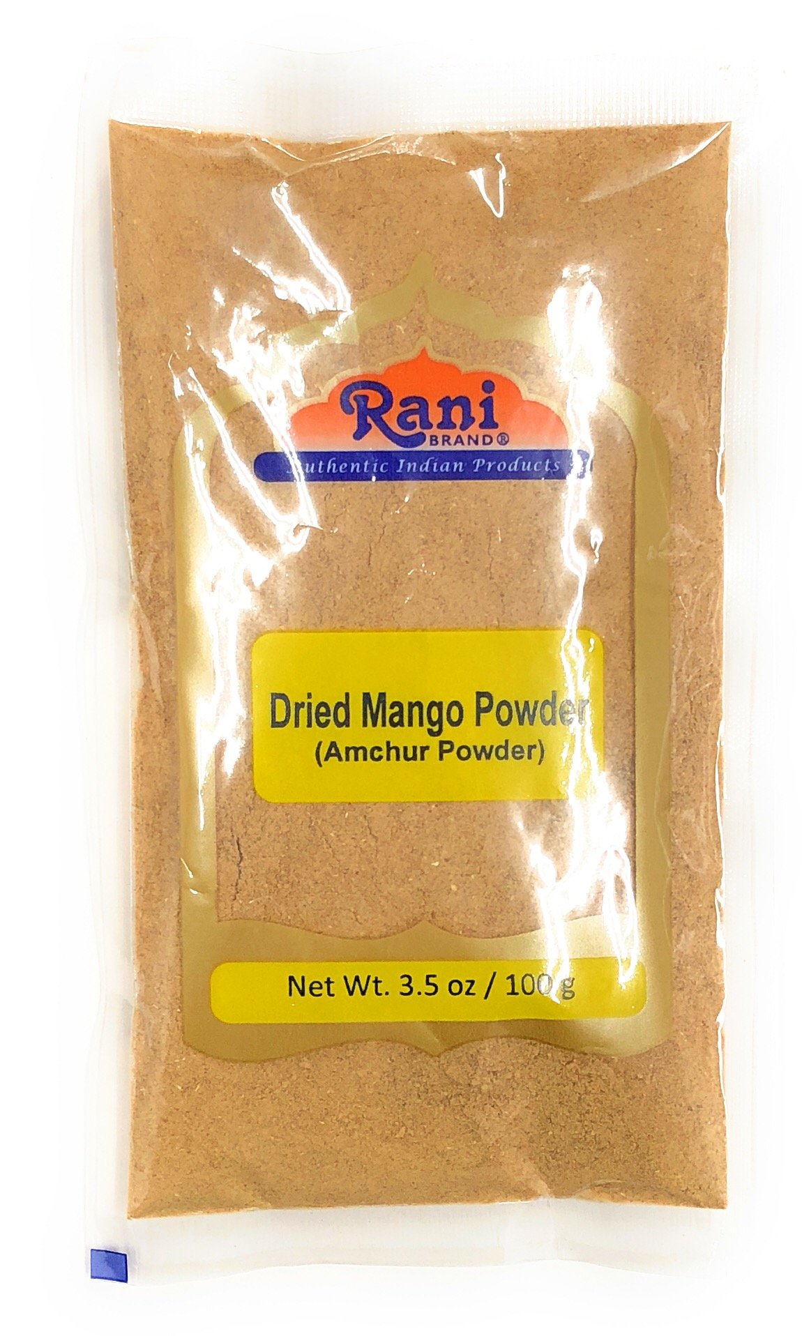 Rani Amchur (Mango) Ground Powder Spice 3.5oz (100gm) ~ All Natural, Indian Origin | No Color | Gluten Free Ingredients | Vegan | NON-GMO | No Salt or fillers
