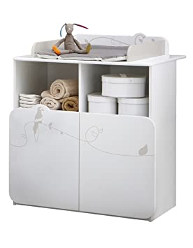 Charmant Demeyere 316202 Jungle Commode Table Lange   Blanc/Beige   87 X 73 X 101