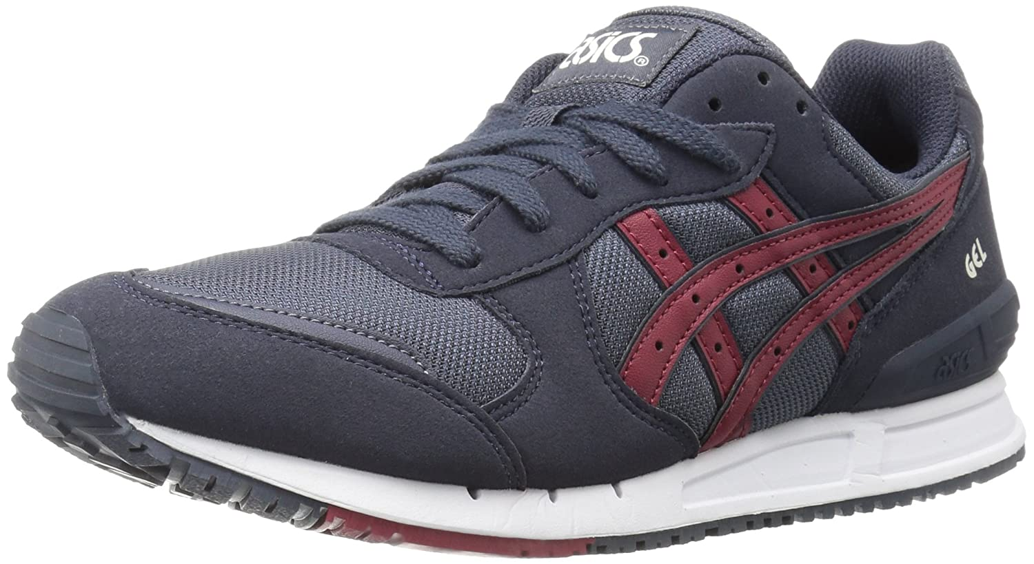 85dbb9c1 ASICS Men's Gel-Classic Fashion Sneaker, India Ink/Burgundy, 4.5 M US
