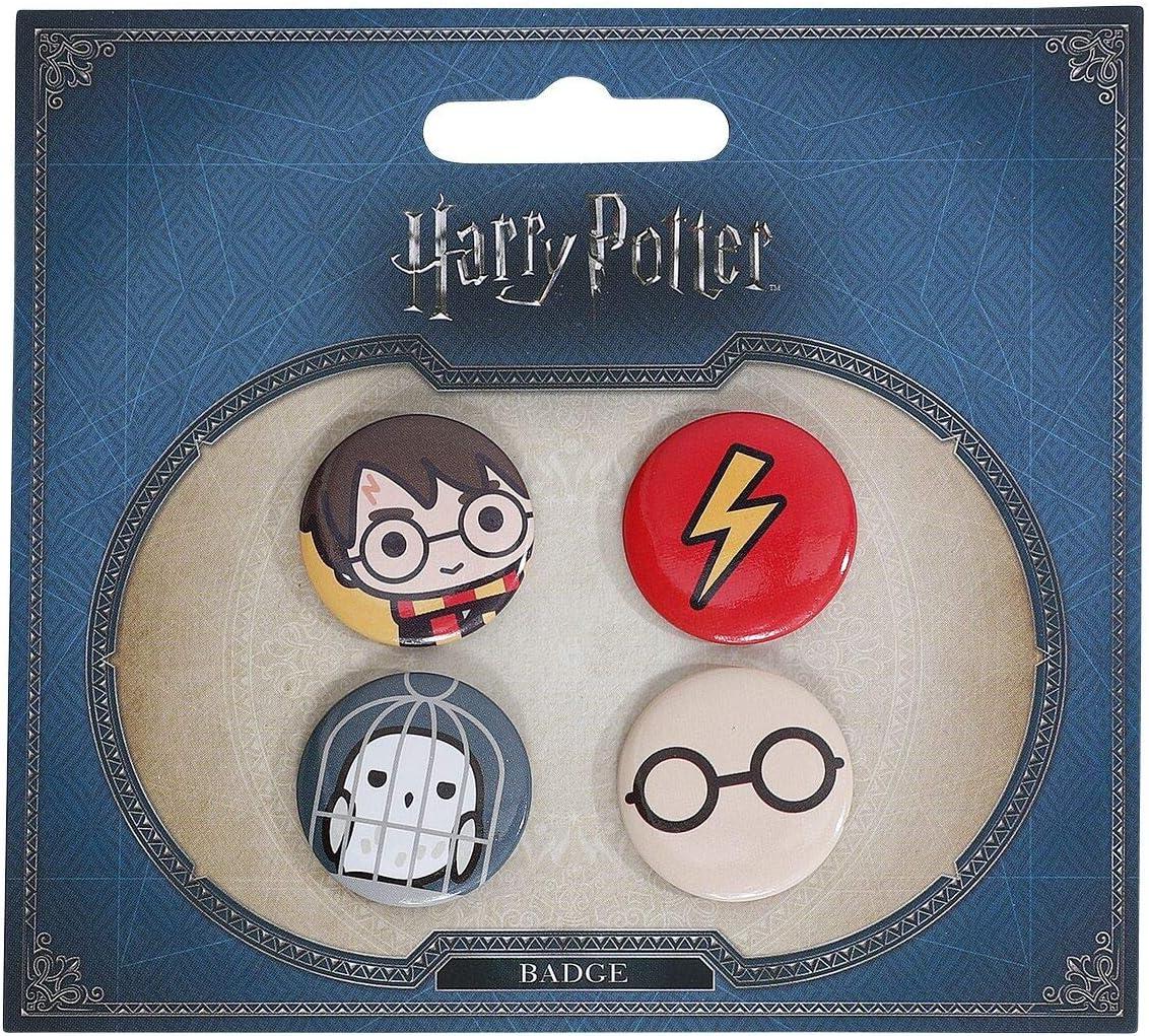 Set 4 pin Harry Potter surtido