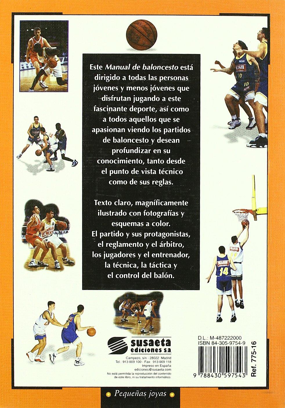 Manual de baloncesto: Stefano Alfonsi: 9788430597543: Amazon ...