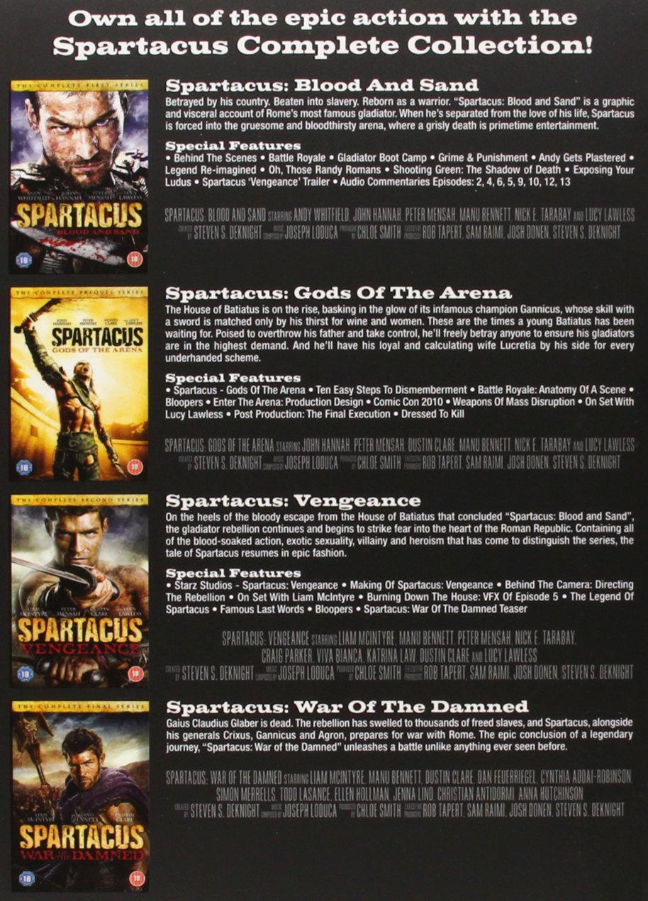Amazon.com: Spartacus: Complete Collection: Movies & TV