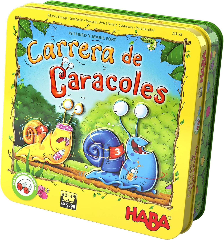 HABA-Juego de Mesa, ¡Carrera de Caracoles, Multicolor (Habermass H304123)