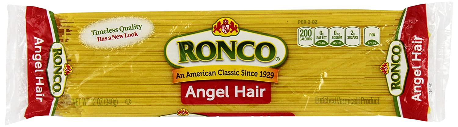 Amazon Com Ronco Angel Hair 12 Ounce Pack Of 8 Capellini