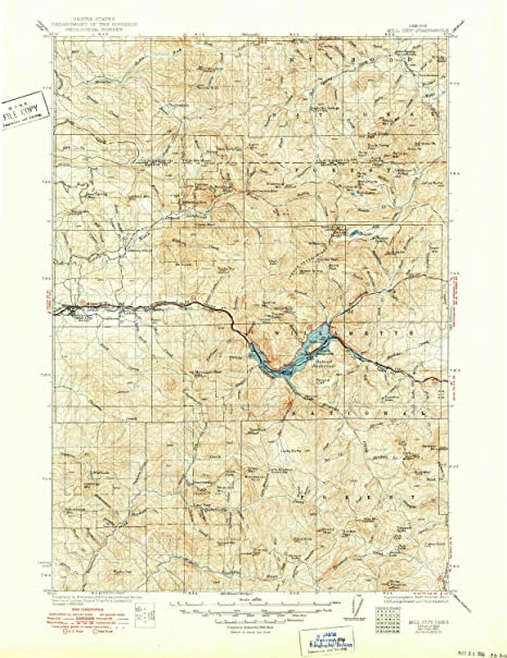 Mill City Oregon Map.Amazon Com Yellowmaps Mill City Or Topo Map 1 125000 Scale 30 X