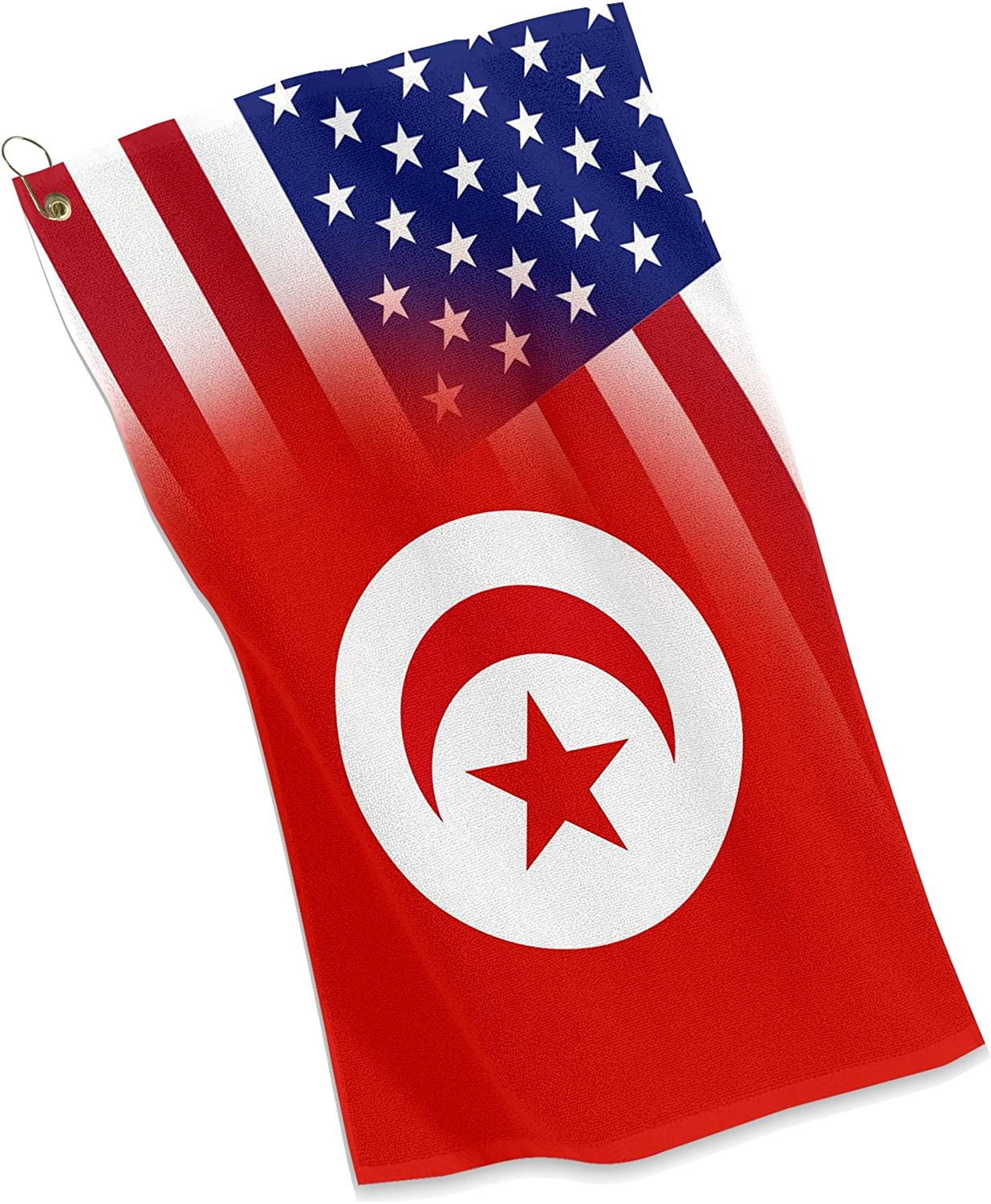 Amazon Com Golf Sports Towel Flag Of Tunisia Usa Tunisian Sports Outdoors