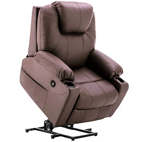 Super Mcombo Electric Power Lift Recliner Chair Sofa With Massage And Heat For Elderly 3 Positions 2 Side Pockets And Cup Holders Usb Ports Faux Leather Pabps2019 Chair Design Images Pabps2019Com